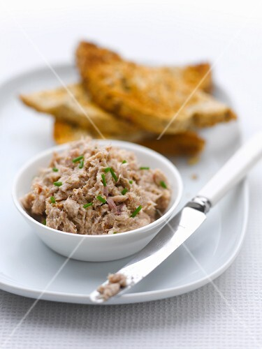 Meat pate and toast