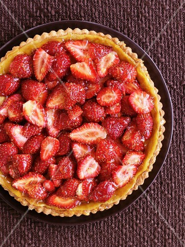 A strawberry and orange tart