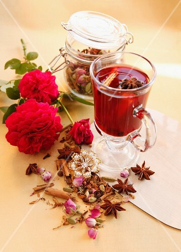 Rose tea with spices