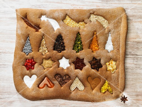 Gingerbread with Christmas symbols