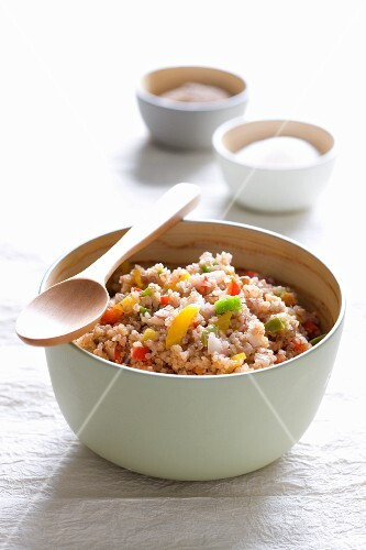 Quinoa with peppers and nuts