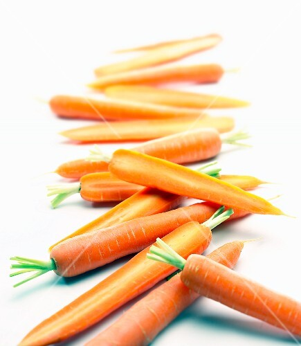 Carrots, whole and halved