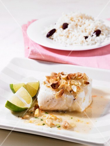 Cod fillet with nuts