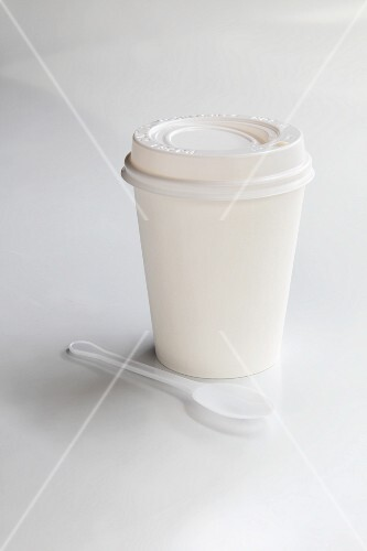 A takeaway coffee cup