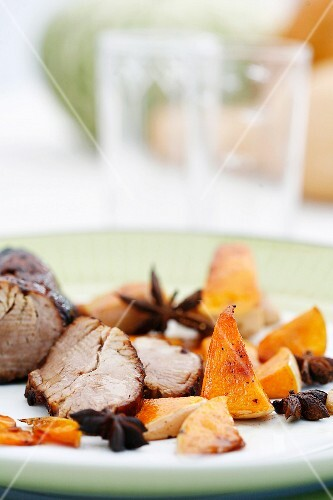 Pork fillet with pumpkin and star anise