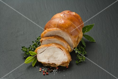 Sliced suckling pig