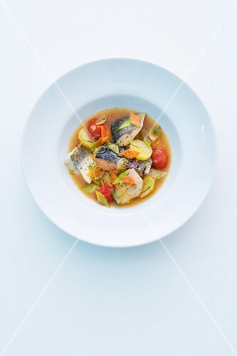 Bouillabaisse made from freshwater fish