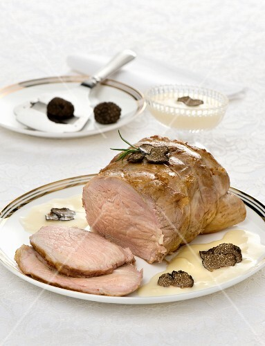 Roasted veal with truffles