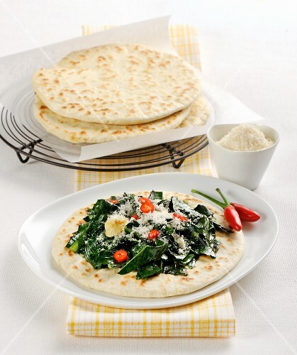 Crescia (Italian tortillas) with herbs