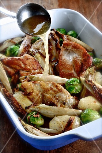 Pheasant with chicory