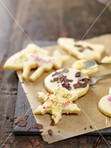 Decorated butter biscuits