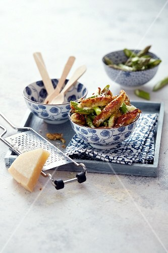 Chia gnocchi with asparagus