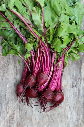 Fresh beetroot (seen from above)