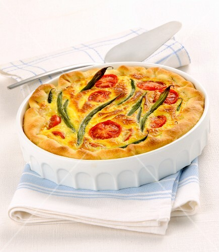 A summery tomato quiche
