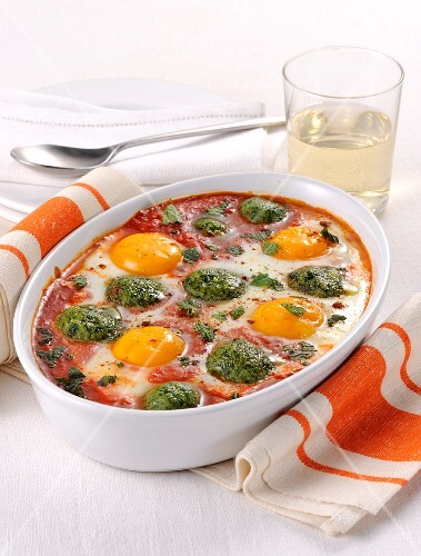 Spinach and egg bake