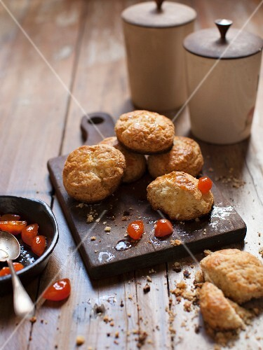American biscuits with candied cherries