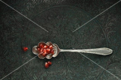 Spoonful of pomegranate seeds