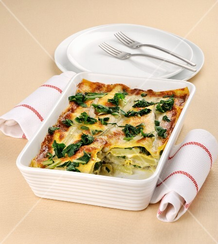 Lasagne with chard and Gorgonzola