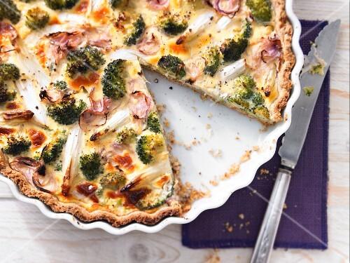 Asparagus and broccoli tarte