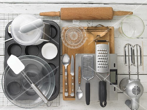 Kitchen utensils for making Easter muffins