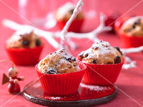 Panettone muffins for Christmas