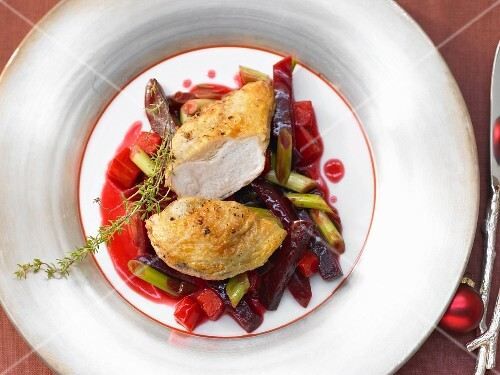 Guinea fowl breast with truffled vegetables