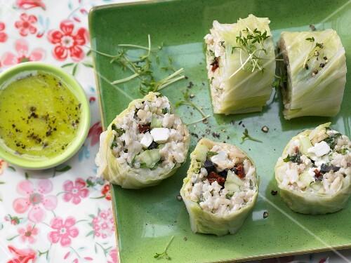Stuffed Chinese cabbage rolls
