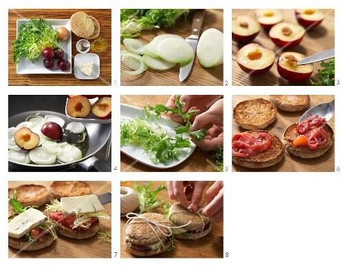 How to make cheese & plum burgers