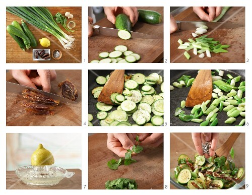 How to prepare courgette