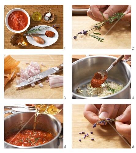 How to prepare tomato & lavender soup