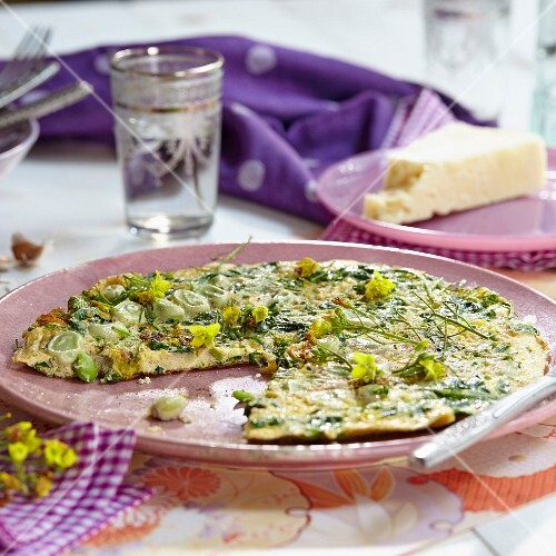 Frittata with wild rocket