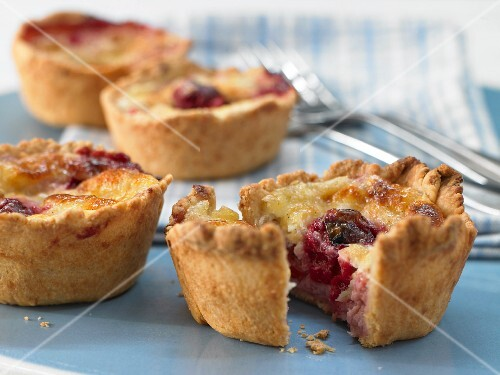 Cherry & pudding tartlets