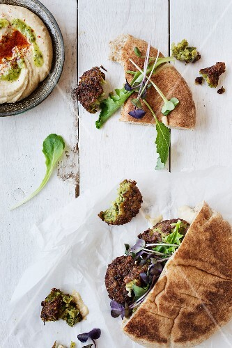 Falafel in a pita bread