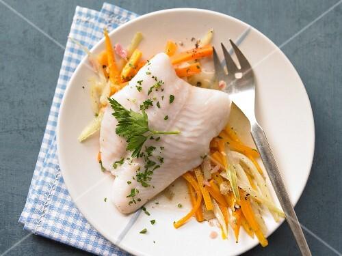 Steamed fillet of fish
