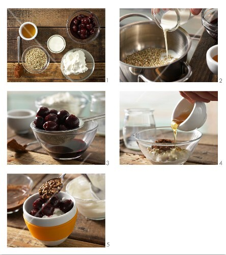 How to prepare chocolate & cherry quark