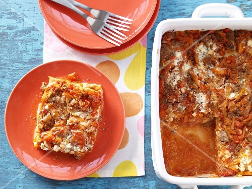 Lasagne with cream cheese