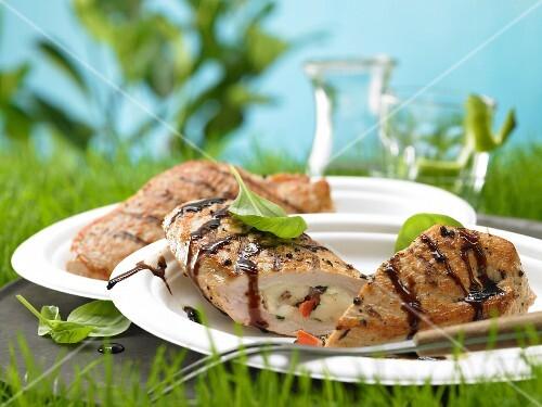 Turkey escalope with a tomato & mozzerella filling
