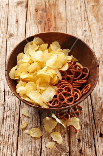 Crisps and pretzels