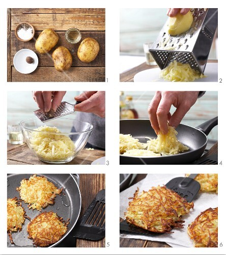 Making potato rösti (English Voice Over)