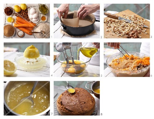 How to prepare carrot and nut cake