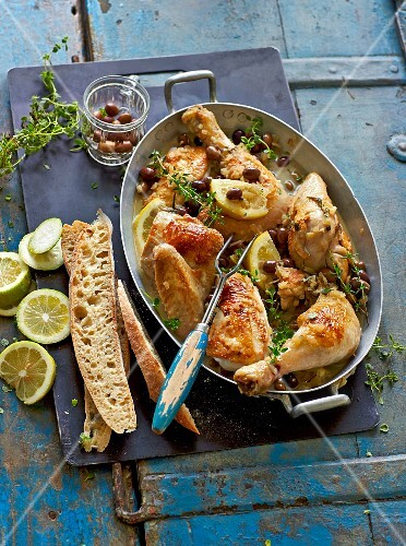 Italian lemon chicken with olives