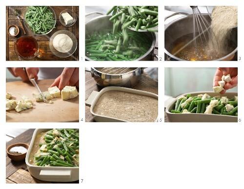 How to prepare green bean gratin with spelt semolina