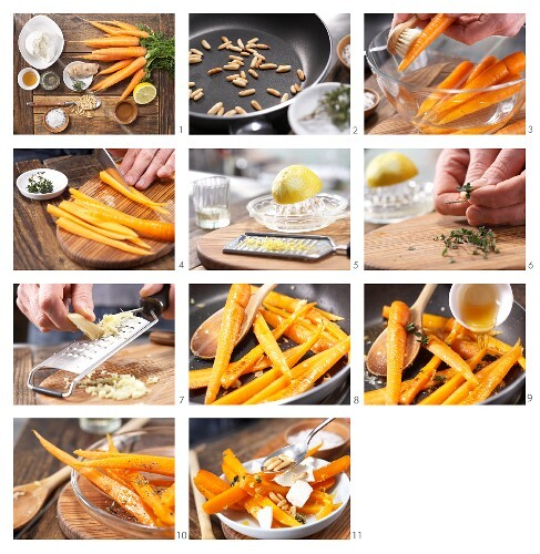 How to preoare carrot salad with mozzarella and lemon and thyne dressing