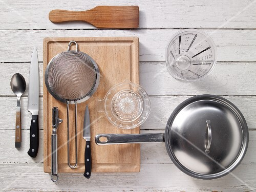 Kitchen utensils for making potatoes