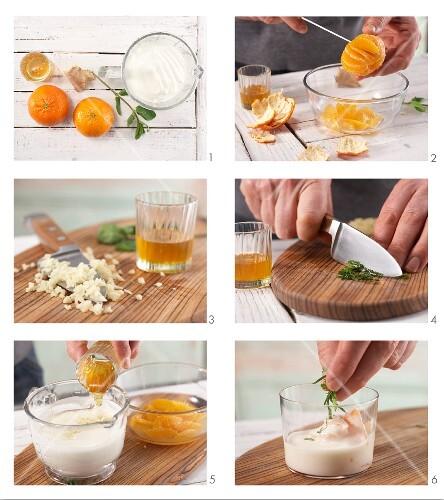 clementinen joghurt mit ingwer und honig zubereiten bild kaufen 11988833 stockfood. Black Bedroom Furniture Sets. Home Design Ideas