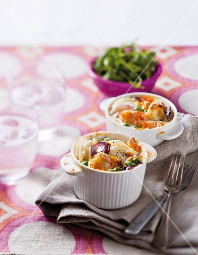 Potato and haddock gratin