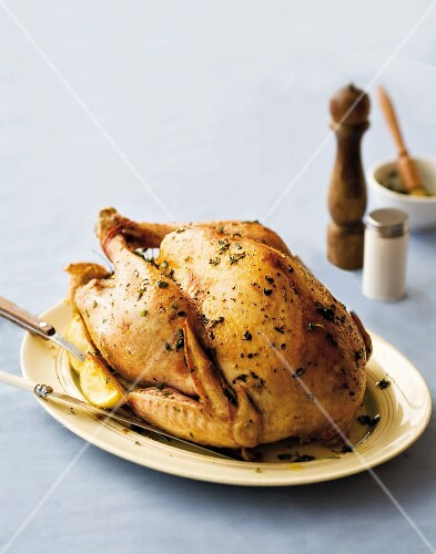 Roast turkey with herbs