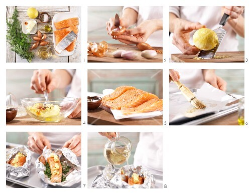 How to prepare fillet of salmon with saffron butter