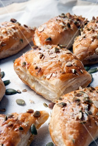 Puff pastry with a pumpkin filling