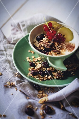 Granola with pecan nuts